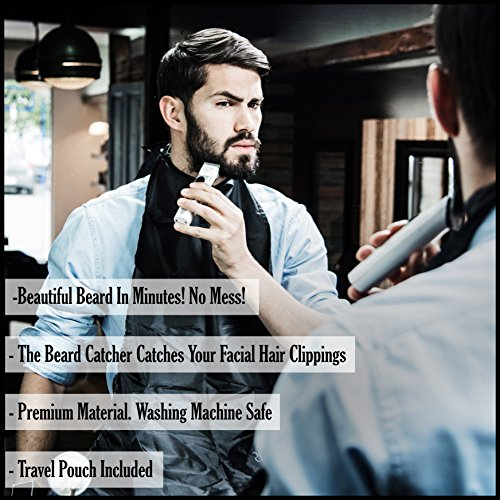 darwins beard catcher trim your beard in minutes without the mess and stop. Black Bedroom Furniture Sets. Home Design Ideas