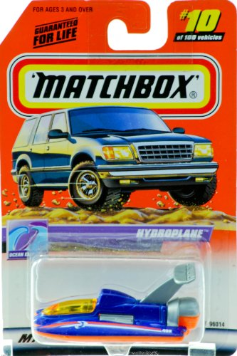 1999 - Mattel - Matchbox - #10 of 100 Vehicles - Hydroplane - Ocean Explorer Edition - Series 2 - Blue & Orange - 1:64 Scale - Out of Production - New - Limited Edition - Collectible - 1
