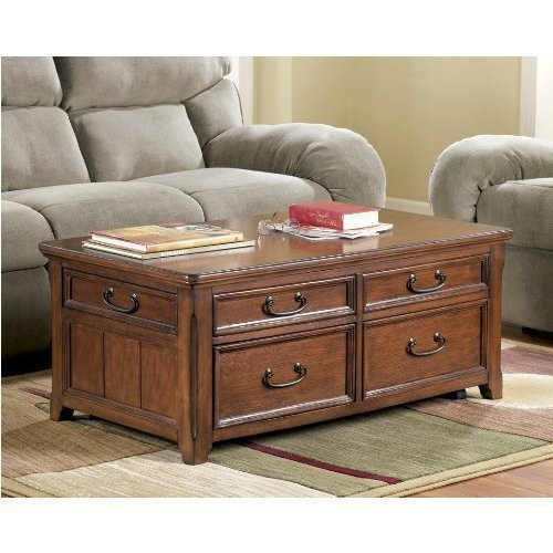 Discontinued Ashley Furniture: Ashley Furniture Great Sale: Wooden Lift Top Living Room