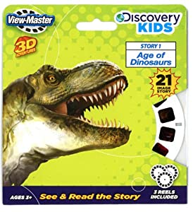 ViewMaster Discovery Kids - Dinosaurs - 3 Reels on Card - NEW Basic Fun
