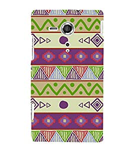 Ethenic Tribal Art Cute Fashion 3D Hard Polycarbonate Designer Back Case Cover for Sony Xperia SP :: Sony Xperia SP HSPA C5302 :: Sony Xperia SP LTE C5303 :: Sony Xperia SP LTE C5306