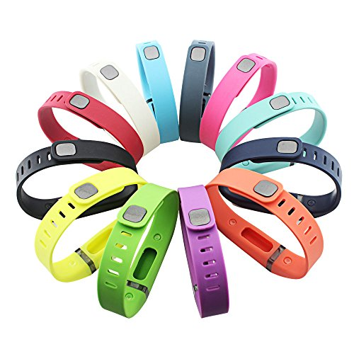 GinCoband-12PCS-Fitbit-Flex-Wristband-Replacement-Accessory-with-Clasp-For-Fitbit-Flex-Bracelet-Sport-Arm-Band-No-tracker