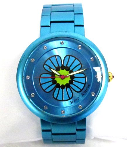 Betsey Johnson Women's Blue Aluminum Bracelet Watch, BJ00114-09