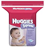 Huggies Supreme Baby Wipes, Refill, 184-Count Pack (Pack of 3) [Package May Vary]