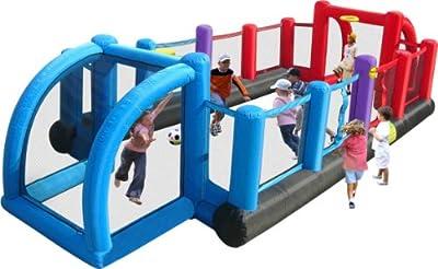 Happy Hop Fußballfeld (8 m x 3,35 m) mit Toren für Kinder im Garten