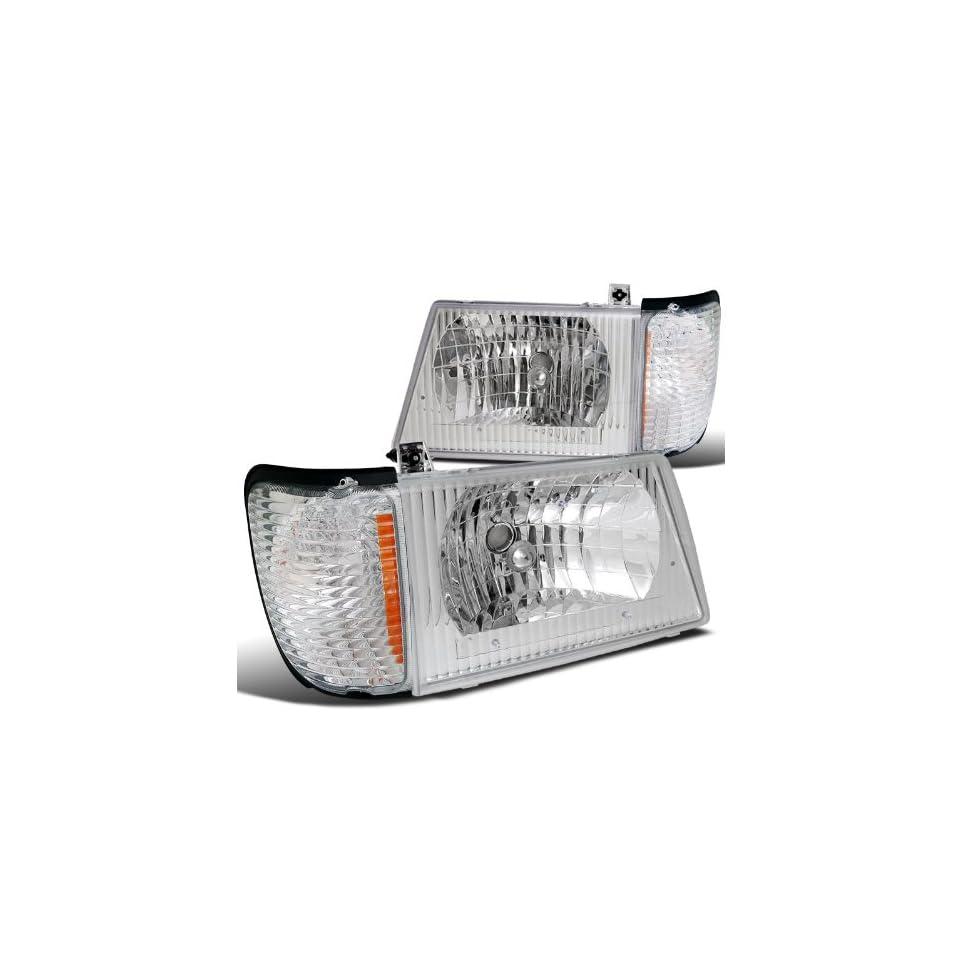Ford Econoline Van E250 E350 E450 Headlights+ Signal Corner Light Chrome Automotive