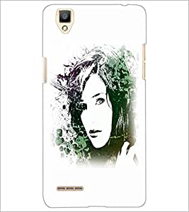 PrintDhaba Face D-5613 Back Case Cover for OPPO F1 (Multi-Coloured)