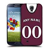 Case Fun Personalised West Ham United Football Shirt, Any Name, Any Number Snap-on Hard Back Case Cover for Samsung Galaxy S4 (i9500)