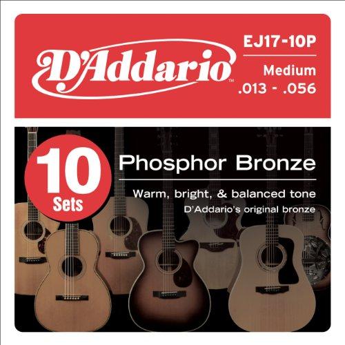 D'Addario EJ17-10P Phosphor Bronze Acoustic Guitar