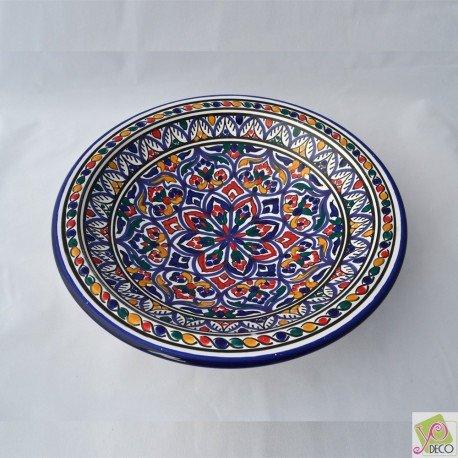 Plat rond Marrakech - Pièce unique - D 31 cm