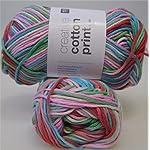 50 g Creative Cotton Aran Print, Fb. 003 * Strickgarn * Häkelgarn * NEU
