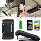 Protable Multipoint Wireless Bluetooth Receiver Handsfree Speakerphone Car Vehicle HandsFree Kit Sun Visor Clip