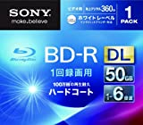 SONY 日本製 ビデオ用BD-R 追記型 片面2層50GB 6倍速 ホワイトプリンタブル 単品 BNR2VGPJ6
