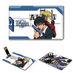 8GB USB Flash Drive USB 2.0 Memory TRIGUN Anime Comic Game Credit Card Size Customized Support Services Ready Anime Adventure Weird Western Space Western Drama Trigun Manga Series Animated Feature Film Playstation 2 Episodes Online Video Game The Planet Gunsmoke