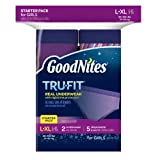 GoodNites Tru-Fit Real Underwear with Nighttime Protection Starter Pack for Girls, Large and Extra Large, 7 Count