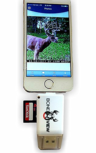 BoneView-Trail-and-Game-Camera-Viewer-for-Apple-iPhone-iPad-iPod-Lightning-connector-with-Extender-Reads-SD-SDHC-and-Micro-SD-Cards