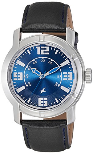 Fastrack Analog Blue Dial Mens Watch - 3021SL05
