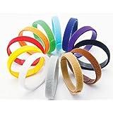 2-TECH Welpen Halsbänder für Große / Riesenrassen 12 Farben Weiches Velcro anpassbar Wiederverwendbar Beschriftbar ID 40 cm lang