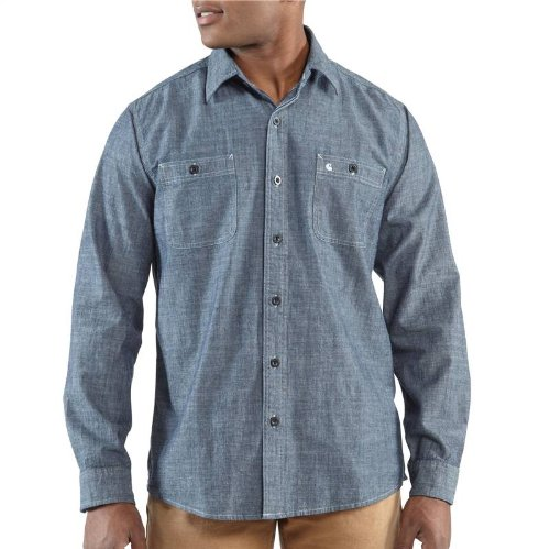 Carhartt L/S CHAMBRAY CASUAL SHIRT LIGHT CHAMBRAY XXL