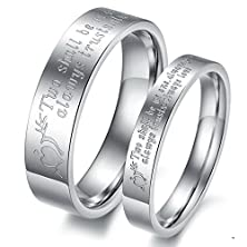 buy Men'S Women'S Stainless Steel Cupid'S Arrow Letters Engraved Couple Lover'S Rings Wedding Engagement Bands, Size 6 For Women