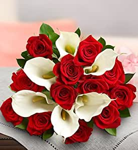 Flowers by 1800Flowers - Red Rose and Calla Lily Bouquet