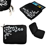 CaseGuru Universal 10 Inch Summer Time Bouvardia Floral Sleeve Pouch Case Cover Protection Suitable for Nook HD+, Samsung Galaxy Note N8000, Samsung Galaxy Tab 2 P5100, Acer Iconia A200, Kindle Fire HD 8.9, Google Nexus 10 (Black)