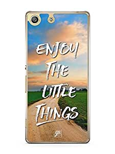 YuBingo Enjoy The Little Things Designer Mobile Case Back Cover for Sony Xperia M5