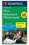 Pfalz - Naturpark Pfälzerwald: Wanderkarten-Set mit Radrotuen und Aktiv Guide in der Schutzhülle. GPS-genau. 1:50000