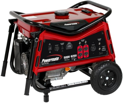 Powermate PM0105007 Vx Power Series 6,250 Watt 389cc Gas Powered Portable Generator