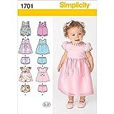 Simplicity 1701A XXS XS Small Medium Large Babies Dress and Separates