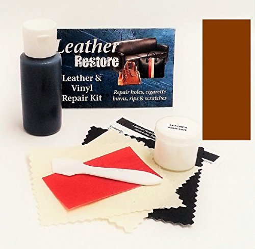 Leather Repair Kit with READY TO USE Color, MEDIUM BROWN (Faux Leather Furniture Repair Kit compare prices)