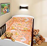COT BUMPER 100 COTTON PADDED FOR BABY FIT COT 120x60 140x70 STRAIGHT 180cm to fit cot 120x60cm Teddy Honey Peach