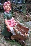 Oma mit Schubkarren zum bepflanzen Gartenfigur Garten Figur Opa