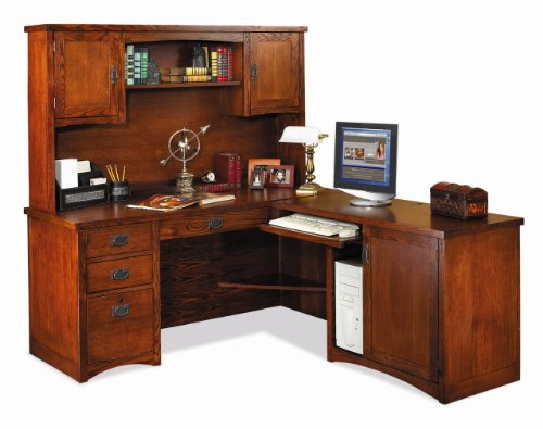 Buy Low Price Comfortable Kathy Ireland Office Furniture by Martin Mission Pasadena Complete MP684R Right Corner Computer Desk and MP684R-R Right Return MP682 Hutch Package (MP684R, MP684R-R, MP682) (B0031AR996)