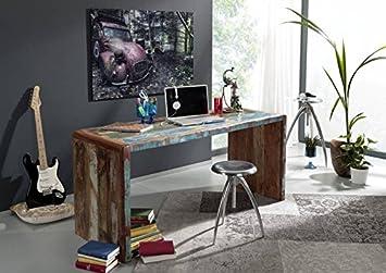 Schreibtisch Altholz 170x65x76 mehrfarbig lackiert FREEZY #40