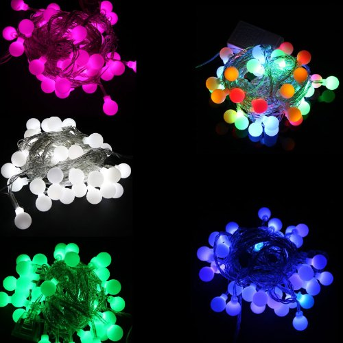 220V Rgb 50 Led Ball 5M Christmas Decoration String Lights Fairy Lights Eu Plug