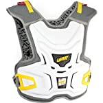 Leatt Adventure Junior Youth Chest Protector MX/Off-Road/Dirt Bike Motorcycle Body Armor - White / One Size