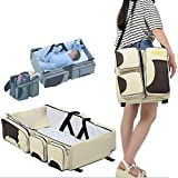 Biaba Collection New Multifunction Fashion Mummy Bag 2 In 1 Travel Bag Baby Bed Free Shipping Travel Bed(Buy One Get 5 In 1 Travel Luggage Organiser Worth RS 899) - B06XXJR49J