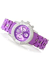 Invicta 18743 Women's Sea Spider Quartz Chronograph Stainless Steel & Polyurethane Bracelet Watch