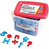 Educational Insights Alphamagnets & Mathmagnets Color Coded (Set of 214)