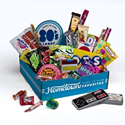 Hometown Favorites 1980\'s Nostalgic Candy Gift Box, Retro 80\'s Candy, 3-Pound
