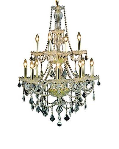 Crystal Lighting Giselle 12-Light Chandelier, Gold