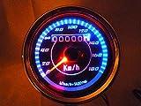 夜道 安心 LED スピードメーター 180 km 12V オートバイ 青