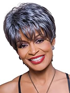 Foxy Silver Synthetic Wig - Kathy