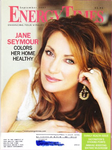 Jane Seymour Cover Energy Times: Enhancing Your Vitality Through Nutrition, Health & Harmony Magazine September 2007