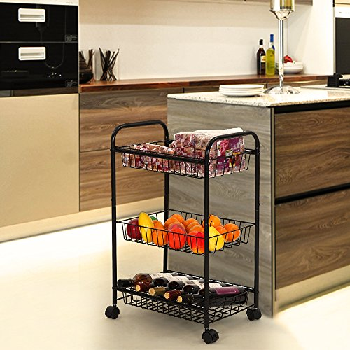 Kitchen Pantry On Wheels Rolling Pantry Shelves Songmics 3 Tiers Rolling  Storage
