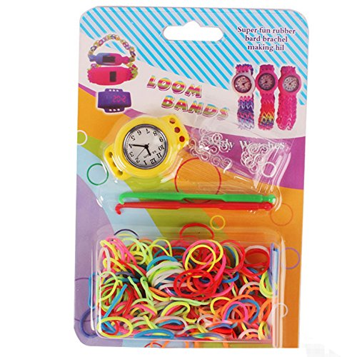 RAINSTORM Loom Rubber Bands With Colorful Creative Watch For Children Yellow