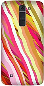 Candy Stripes Printed Back Cover Case For LG K7