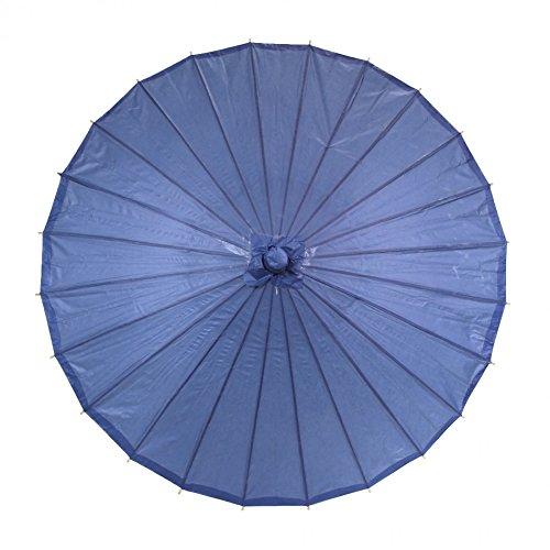 Koyal Color Paper Parasol, 32-Inch, Navy Blue front-998657