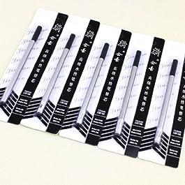 Belle Jinhao encre noire Stylo recharge 0,5 Recharge pour stylo à 10 recharges